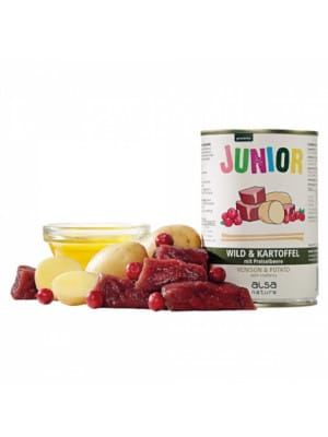 Alsa Junior - divjačina s krompirjem in brusnicami