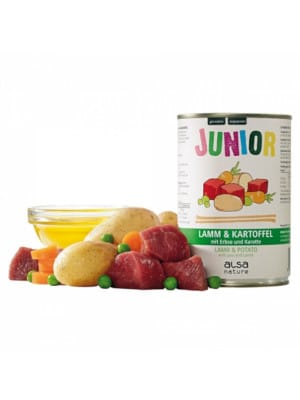 Alsa Junior - jagnjetina s krompirjem, grahom in korenjem