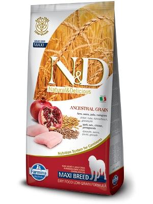 Natural & Delicious Dog Low Grain Adult Maxi piščanec