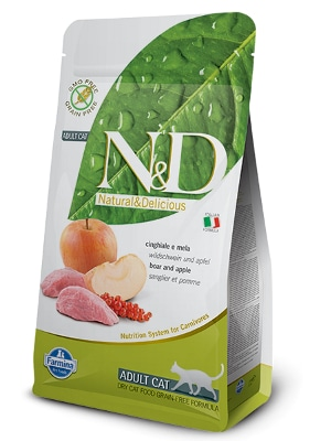 Natural & Delicious Cat Grain-free Adult divja svinja