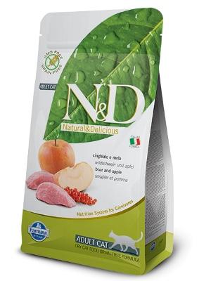 Natural & Delicious Cat Grain-free Adult divja svinja