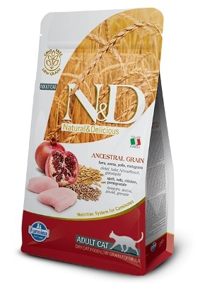 Natural & Delicious Cat Low Grain Adult piščanec