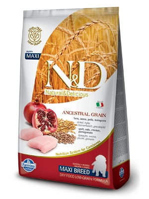Natural & Delicious Dog Low Grain Puppy Maxi piščanec