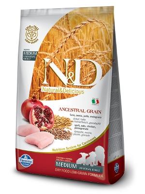 Natural & Delicious Dog Low Grain Puppy Medium piščanec