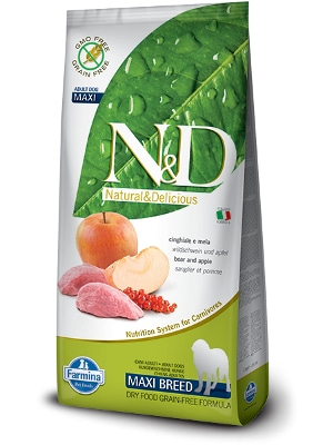 Natural & Delicious Dog Grain-free Adult Maxi divja svinja 12kg