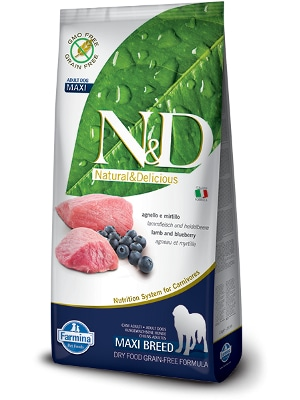 Natural & Delicious Dog Grain-free Adult Maxi jagnjetina 12kg