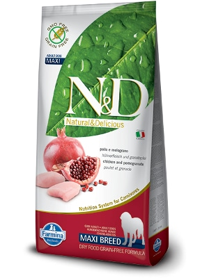 Natural & Delicious Dog Grain-free Adult Maxi piščanec 12kg
