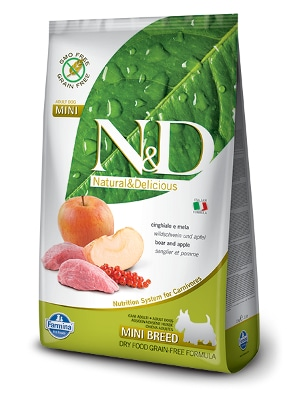 Natural & Delicious Dog Grain-free Adult Mini divja svinja