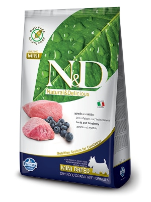 Natural & Delicious Dog Grain-free Adult Mini jagnjetina