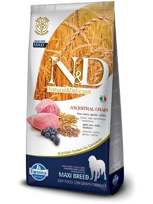Natural & Delicious Dog Low Grain Adult Maxi jagnjetina 12kg