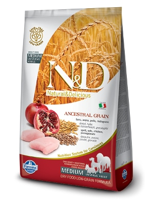 Natural & Delicious Dog Low Grain Adult Medium piščanec