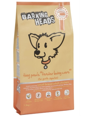 "Barking Heads tiny paw's ""tender loving care"""