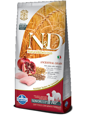 Natural & Delicious Dog Low Grain Adult Senior Maxi 12kg
