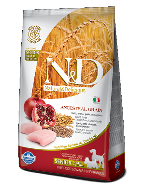 Natural & Delicious Dog Low Grain Adult Senior Mini Medium