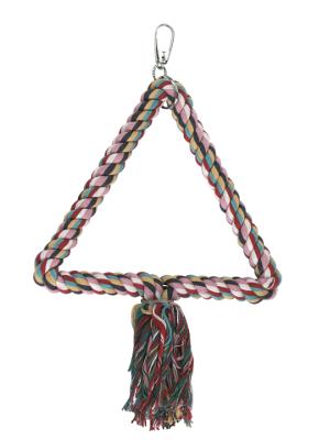 Igrača za ptice - plezalo iz vrvi trikotno