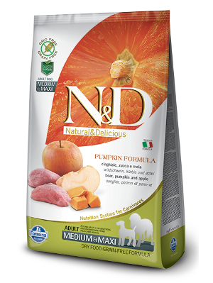 Natural & Delicious Dog Grain-free Pumpkin Adult Medium & Maxi divji prašič