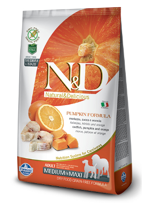 Natural & Delicious Dog Grain-free Pumpkin Adult Medium & Maxi polenovka