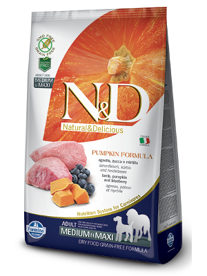 Natural & Delicious Dog Grain-free Pumpkin Adult Medium & Maxi jagnjetina