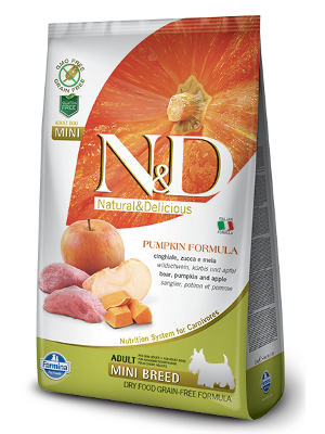 Natural & Delicious Dog Grain-free Pumpkin Adult Mini divji prašič