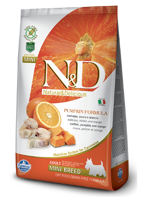 Natural & Delicious Dog Grain-free Pumpkin Adult Mini polenovka