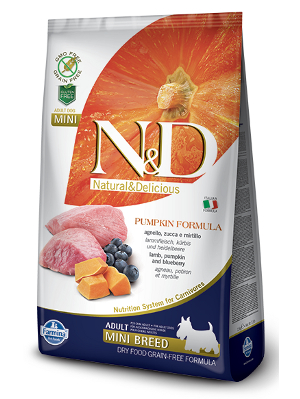 Natural & Delicious Dog Grain-free Pumpkin Adult Mini jagnjetina