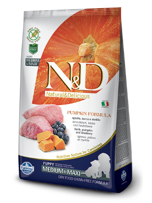 Natural & Delicious Dog Grain-free Pumpkin Puppy Medium & Maxi jagnjetina