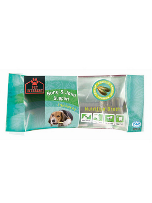 Pet Interest Nutrition Brush zobna ščetka Bone & Joint 20g