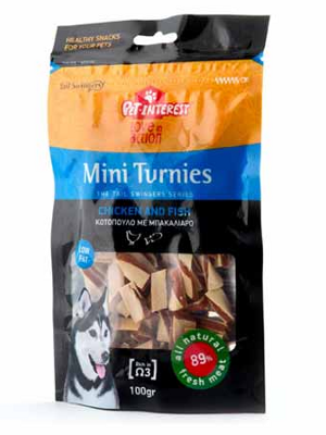 Tailswingers Mini Turnies piščančji z ribo 100g