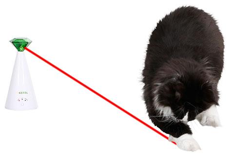 Vrteči mačji laser