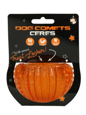 Dog Comets Ceres žoga za poslastice - oranžna 7cm