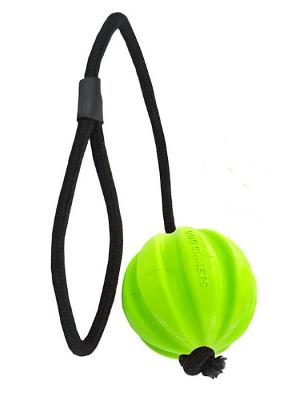 Dog Comets Ball Hale-Bopp žoga z vrvjo - zelena fi 6cm