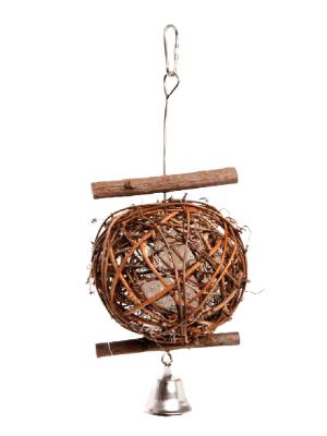 Igrača za ptice - pletena krogla 5cm x 20cm