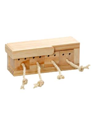 Miselna lesena igrača za glodavce in kunce 4kocke Flamingo Rody Brain Train