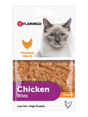 Flamingo Chicken Bites 85g mačji priboljšek