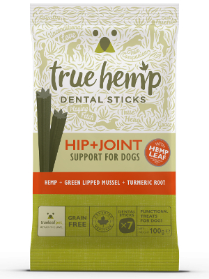 True Hemp Dental Sticks Hip + Joint 100g