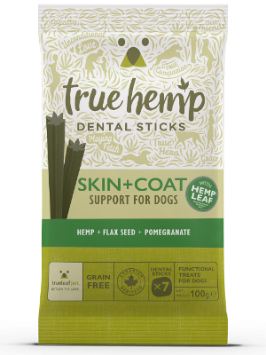 True Hemp Dental Sticks Skin + Coat 100g
