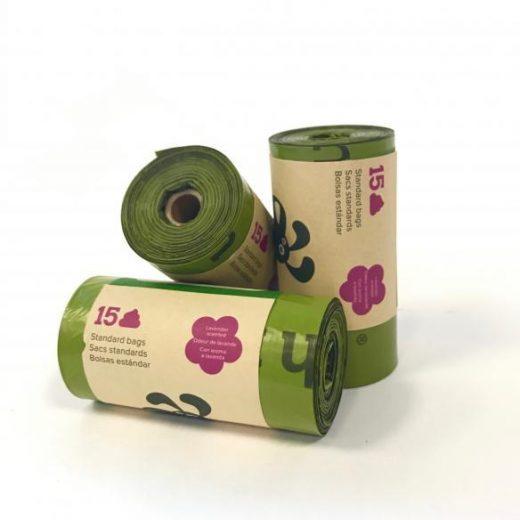 Biorazgradljive vrečke 8x15kos Earth Rated s sivko