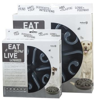 Posoda za počasnejše hranjenje Eat Slow Live Longer Original L siva
