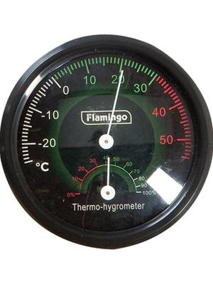 Analogni termometer in higrometer Flamingo
